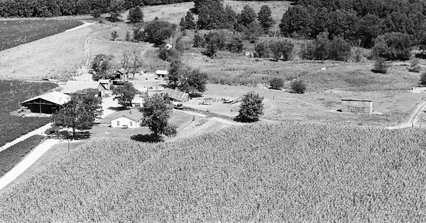 Vintage Aerial photo from 1971 in Shelby County, MO