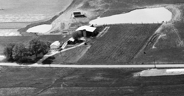 Vintage Aerial photo from 1988 in Pendleton County, KY