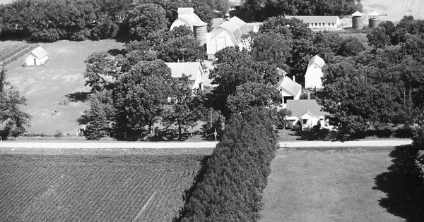 Vintage Aerial photo from 1967 in Blue Earth County, MN