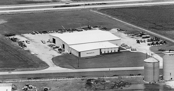 Vintage Aerial photo from 1981 in Piatt County, IL