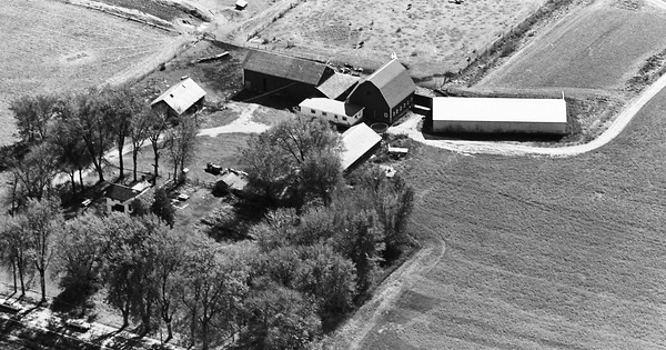 Vintage Aerial photo from 1964 in Stephenson County, IL