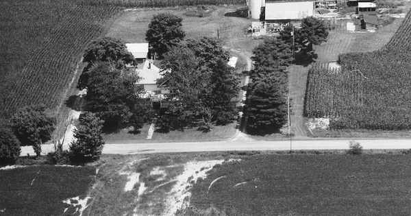 Vintage Aerial photo from 1994 in Morrow County, OH