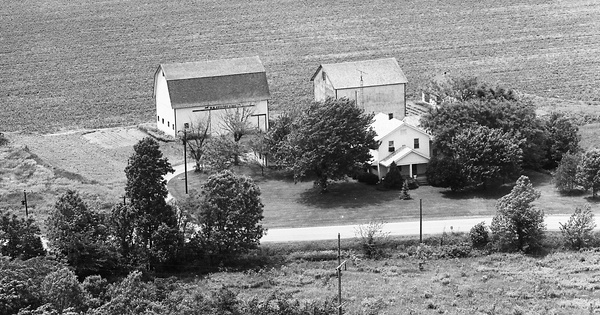 Vintage Aerial photo from 1974 in Wood County, OH