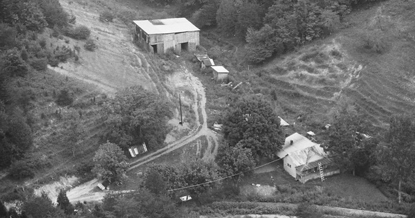 Vintage Aerial photo from 1986 in Hancock County, TN