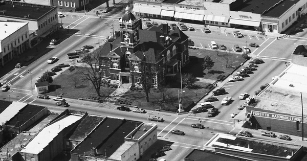 Vintage Aerial photo from 1989 in Monroe County, GA