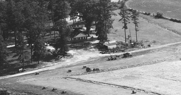Vintage Aerial photo from 1984 in Edgefield County, SC
