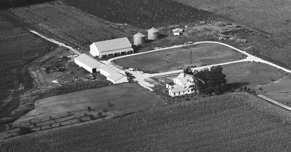 Vintage Aerial photo from 1968 in Delaware County, OH