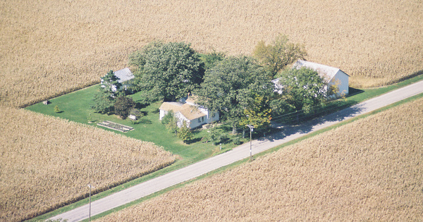 Vintage Aerial photo from 2001 in Williams County, OH