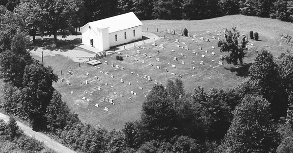 Vintage Aerial photo from 1983 in Tyler County, WV