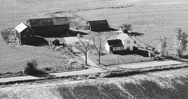 Vintage Aerial photo from 1980 in Ingham County, MI