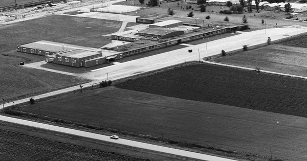 Vintage Aerial photo from 1973 in Scott County, IA