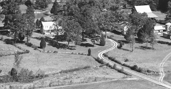 Vintage Aerial photo from 1990 in Granville County, NC