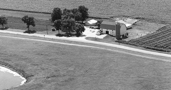 Vintage Aerial photo from 1973 in McHenry County, IL