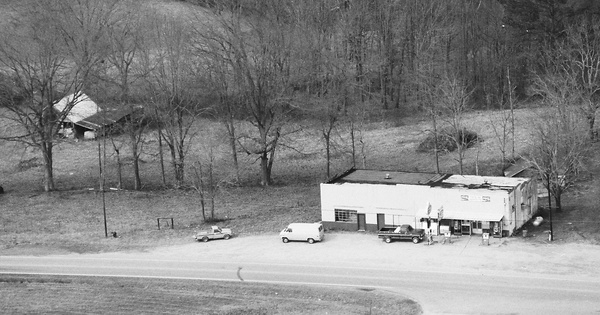 Vintage Aerial photo from 1987 in Cleburne County, AL