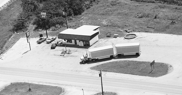 Vintage Aerial photo from 1987 in Franklin County, TN