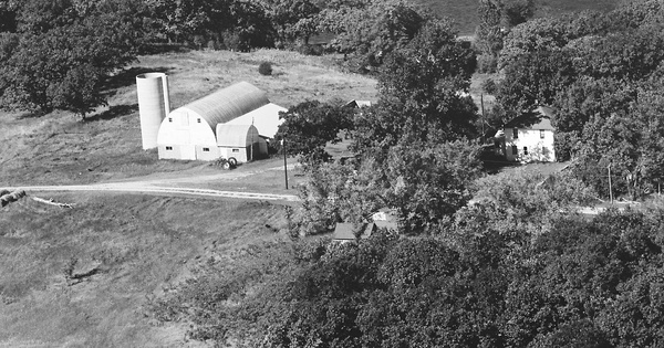 Vintage Aerial photo from 1980 in Stearns County, MN