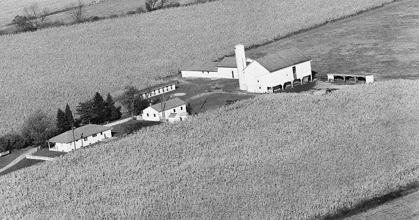 Vintage Aerial photo from 1980 in Darke County, OH