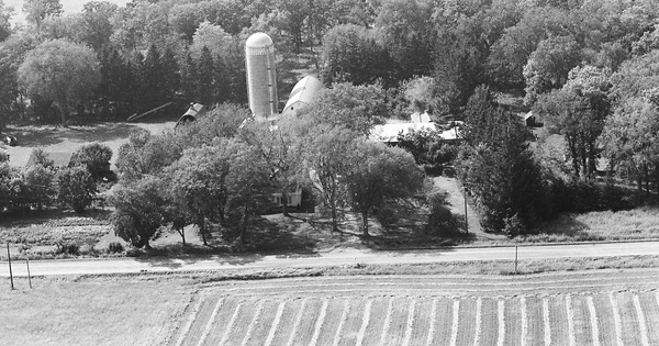 Vintage Aerial photo from 1971 in Benton County, MN