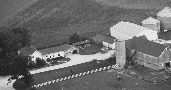 Vintage Aerial photo from 1989 in Kane County, IL