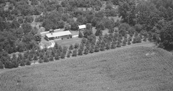 Vintage Aerial photo from 1987 in Henderson County, NC