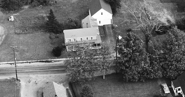 Vintage Aerial photo from 1969 in York County, ME