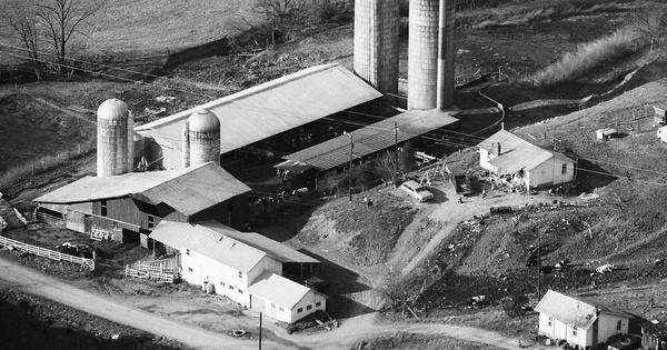 Vintage Aerial photo from 1989 in Greene County, TN