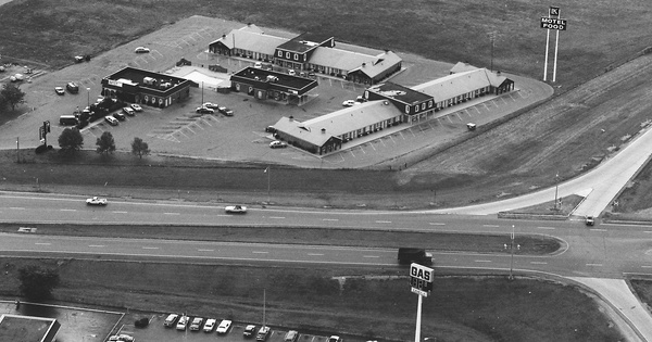 Vintage Aerial photo from 1983 in Miami County, OH
