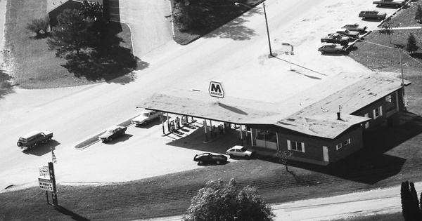 Vintage Aerial photo from 1983 in Manistee County, MI