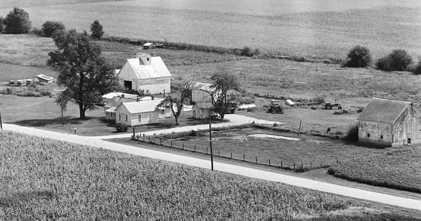 Vintage Aerial photo from 1977 in Logan County, IL