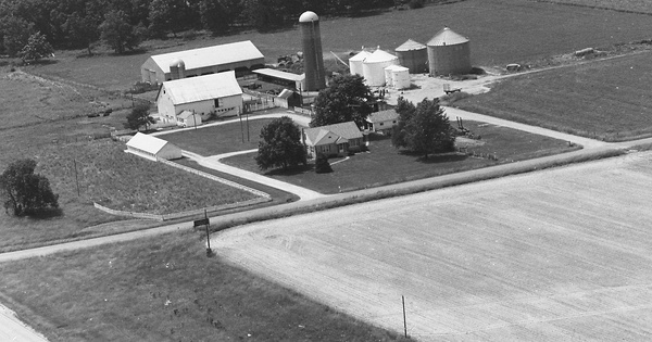 Vintage Aerial photo from 1983 in Richland County, IL