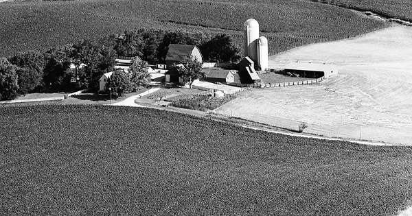 Vintage Aerial photo from 1976 in Mahaska County, IA