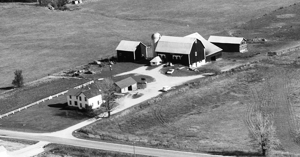 Vintage Aerial photo from 1973 in Mecosta County, MI