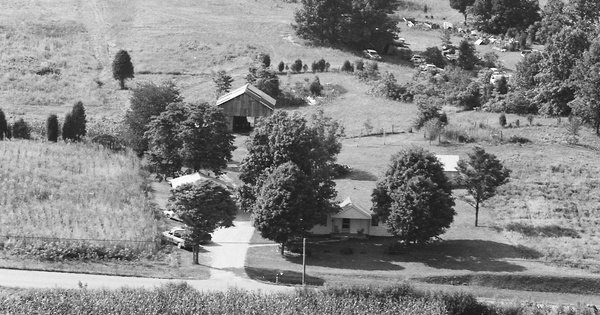Vintage Aerial photo from 1985 in Hardin County, KY