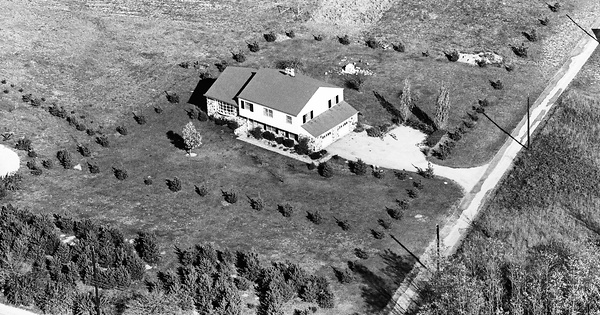 Vintage Aerial photo from 1965 in Chester County, PA