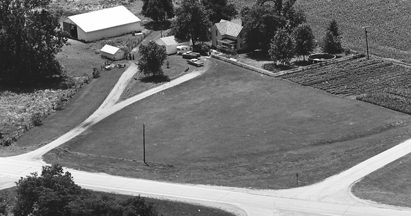 Vintage Aerial photo from 1975 in Tazewell County, IL