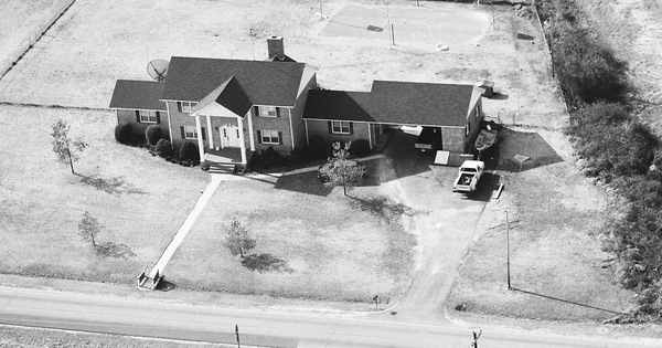 Vintage Aerial photo from 1990 in Hertford County, NC