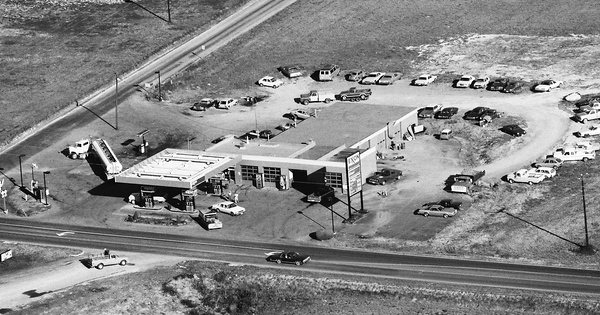 Vintage Aerial photo from 1987 in Goochland County, VA