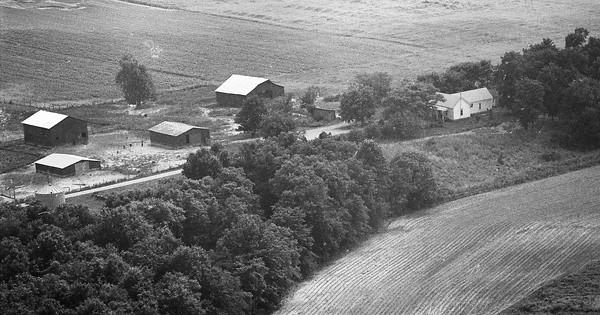 Vintage Aerial photo from 1975 in Cumberland County, IL