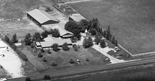 Vintage Aerial photo from 1983 in Lancaster County, NE