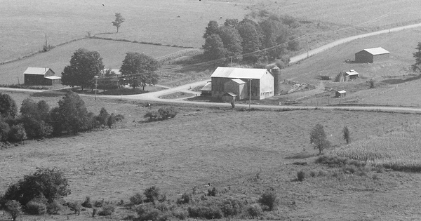 Vintage Aerial photo from 1986 in Cattaraugus County, NY