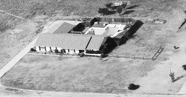 Vintage Aerial photo from 1983 in Collin County, TX