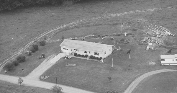 Vintage Aerial photo from 1998 in Bradford County, PA