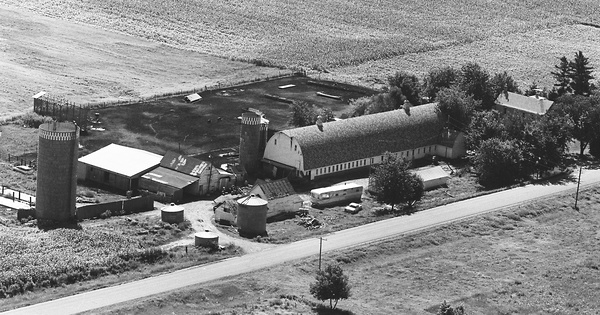 Vintage Aerial photo from 1972 in Mille Lacs County, MN