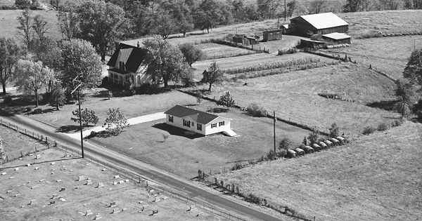 Vintage Aerial photo from 1981 in Bracken County, KY