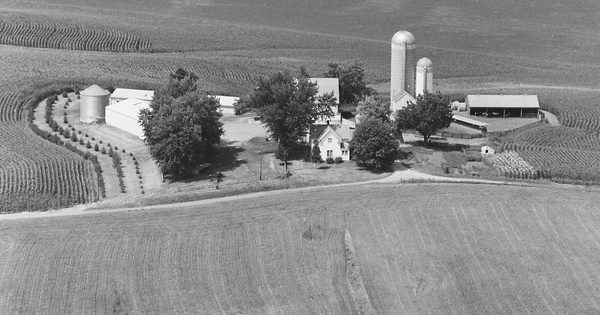 Vintage Aerial photo from 1983 in Mahaska County, IA
