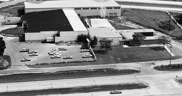 Vintage Aerial photo from 1968 in Ingham County, MI