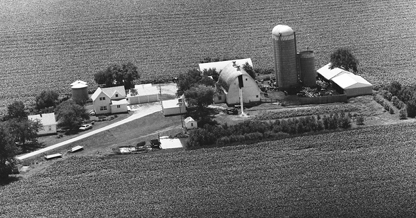 Vintage Aerial photo from 1977 in Faribault County, MN