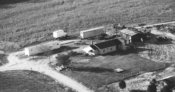 Vintage Aerial photo from 1989 in DeKalb County, AL