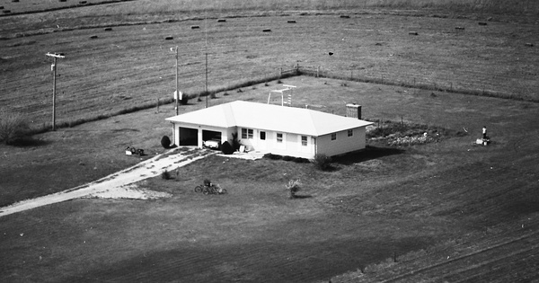 Vintage Aerial photo from 1977 in Lyon County, KS