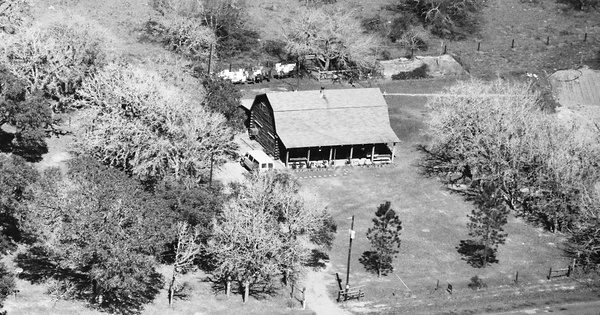 Vintage Aerial photo from 1986 in Victoria County, TX